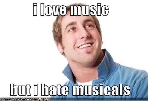 like music but hate musicals