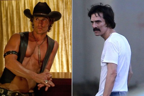 A crazy transformation: From Magic Mike (2012) to Dallas Buyers Club (2013)