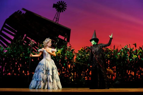 Lucy Durack as Glinda and Jemma Rix as Elphaba
