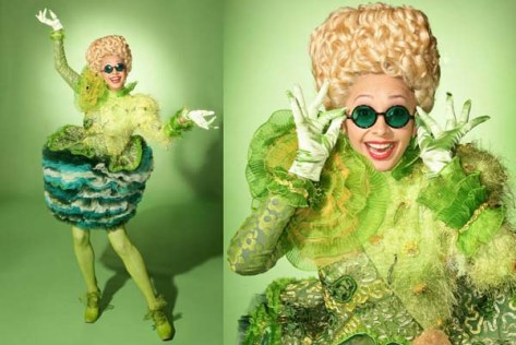 One of the dazzling Emerald City costunes