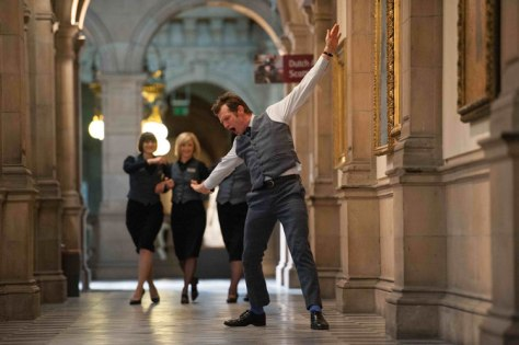 Jason Flemyng busts a move