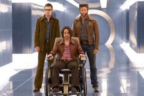 Nicholas Hoult, James McAvoy & Hugh Jackman