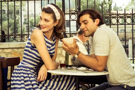 Daisy Bevan & Oscar Isaac. That dress...