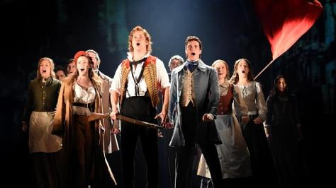 Kerrie Anne Greenland, Chris Durling, Euan Doidge, and cast of Les Mis