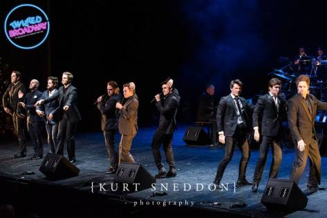 The male ensemble cast of Les Mis performing a Dreamgirls medley, as you do
