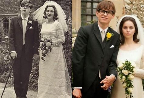 Stephen & Jane Hawking/ Eddie Redmayne & Felicity Jones