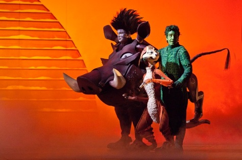 Russell Dykstra and Jamie McGregor as Pumbaa & Timon