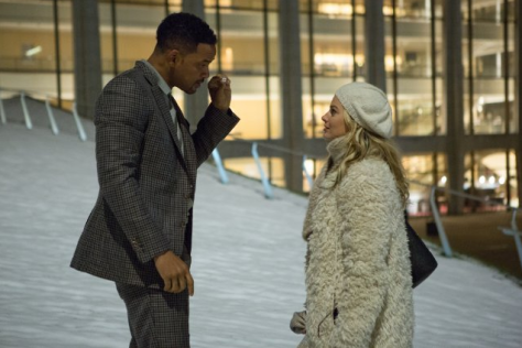 clairestbearestreviews_filmreview_focus_willsmith_margotrobbie_snow