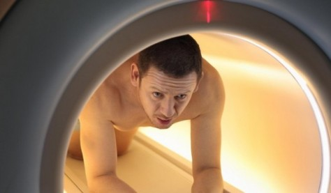 Doing his own MRI... just in case