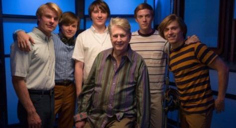Brian Wilson and the film's Beach Boys