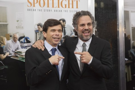 Mark Ruffalo with the real Michael Rezendes